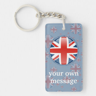 United Kingdom Bubble Flag Keychain