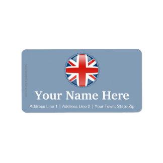 United Kingdom Bubble Flag Label