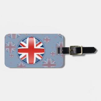 United Kingdom Bubble Flag Luggage Tag