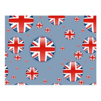 United Kingdom Bubble Flag Postcard