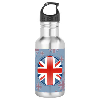 United Kingdom Bubble Flag Stainless Steel Water Bottle