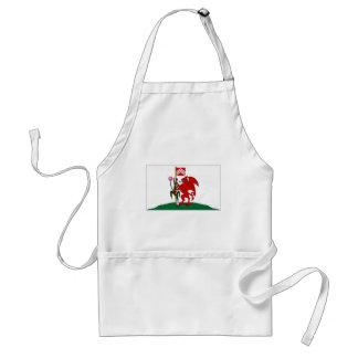 United Kingdom Cardiff Flag Adult Apron