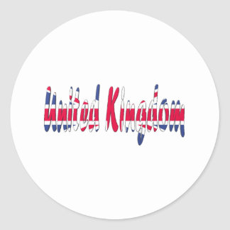 United Kingdom Classic Round Sticker