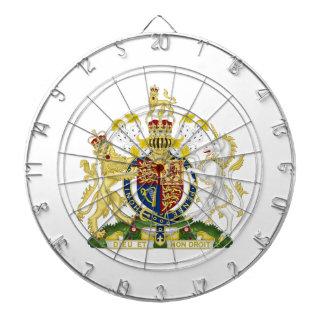 United Kingdom Coat of Arms Dartboard With Darts
