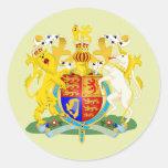 United Kingdom Coat of Arms detail Round Sticker
