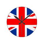 united kingdom country flag great britain uk round clocks