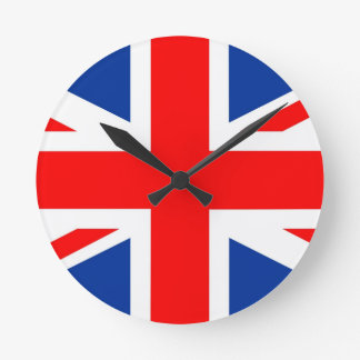 united kingdom country flag great britain uk round wall clock