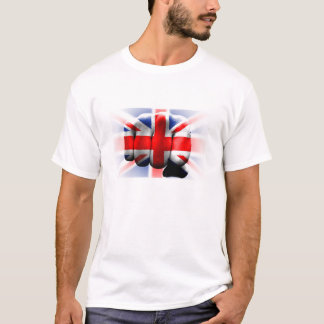 united kingdom country great britain flag fist T-Shirt