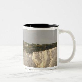 United Kingdom, Dover. The famous white cliffs Two-Tone Coffee Mug