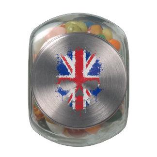United Kingdom Dripping Splatter Skull Jelly Belly Candy Jars