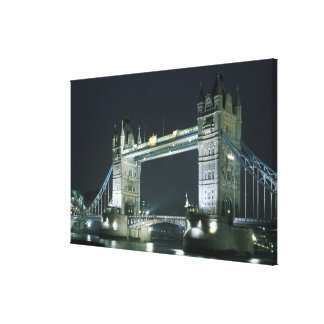 United Kingdom, England, London, Tower Bridge. Canvas Print