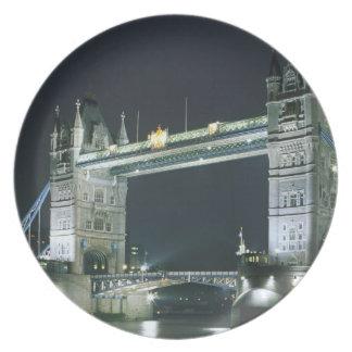 United Kingdom, England, London, Tower Bridge. Party Plates