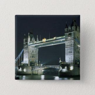 United Kingdom, England, London, Tower Bridge. Pinback Button