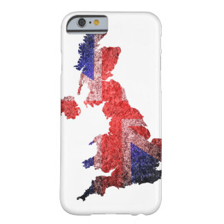 United Kingdom flag and map Barely There iPhone 6 Case