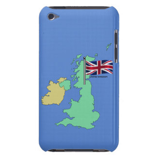 United Kingdom Flag and Map iPod Touch Case-Mate Case