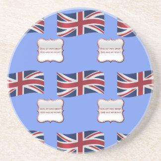 United Kingdom Flag and Motto Coaster