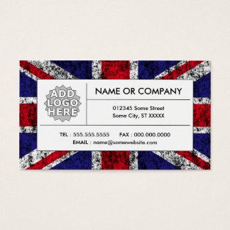 united kingdom flag business card