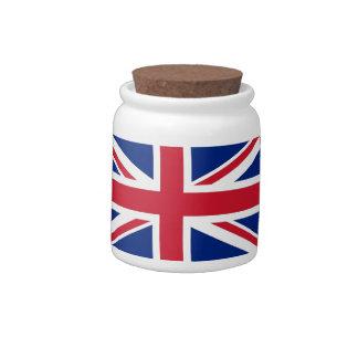 United Kingdom Flag Candy Jar