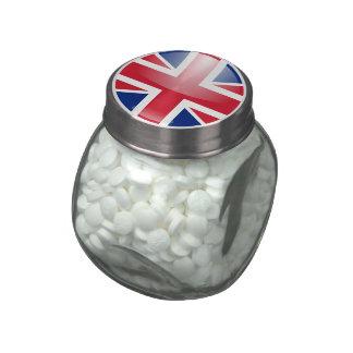 United Kingdom Flag Glass Jars