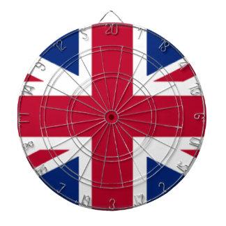 United Kingdom Flag Dartboard With Darts