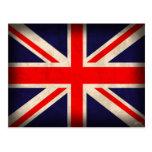 United Kingdom Flag Distressed Postcards