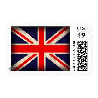 United Kingdom Flag Distressed Stamps