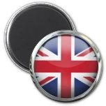 United Kingdom Flag Glass Ball Fridge Magnets