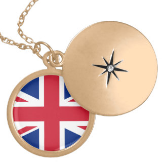 United Kingdom flag Gold Plated Necklace