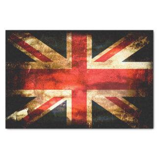 "United Kingdom Flag Grunge 10"" X 15"" Tissue Paper"