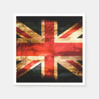 United Kingdom Flag Grunge Paper Napkin