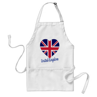 United Kingdom Flag Heart Adult Apron