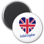 United Kingdom Flag Heart Magnets