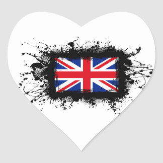 United Kingdom Flag Heart Sticker