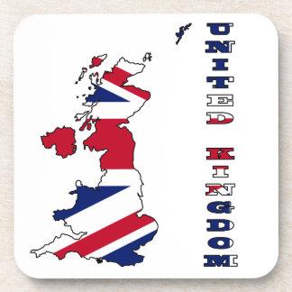 United Kingdom Flag in Map Drink Coaster