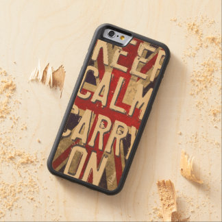 United Kingdom Flag Keep Calm Wood iPhone 6 Carved Maple iPhone 6 Bumper Case