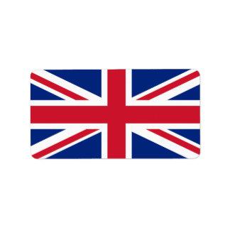 United Kingdom flag Label