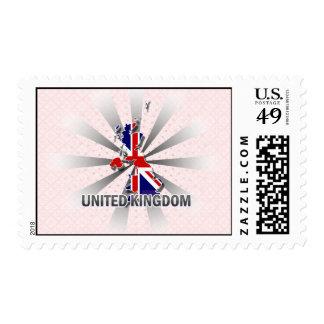 United Kingdom Flag Map 2.0 Stamps