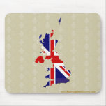 United Kingdom Flag Map full size Mouse Pad