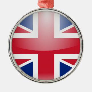 United Kingdom Flag Metal Ornament