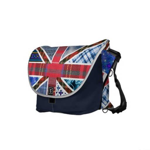 United Kingdom Flag of Fabric Patterns Courier Bags