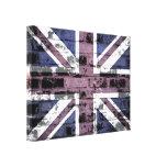 United Kingdom Flag on Old Brick Wall Canvas Print
