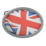 united kingdom flag oval belt buckle