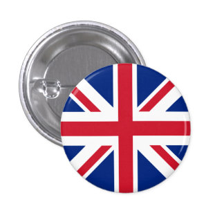 United Kingdom Flag Pinback Button