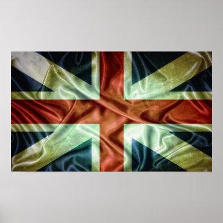 United Kingdom flag. Poster