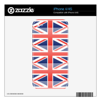 United Kingdom Flag Skins For iPhone 4S