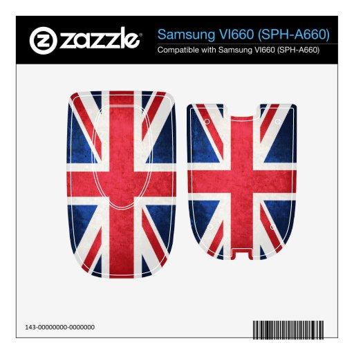 United Kingdom Flag; Skins For Samsung VI660