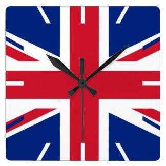 United Kingdom flag Square Wall Clock