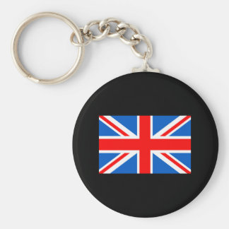 United Kingdom Flag T-shirts and Gifts Basic Round Button Keychain
