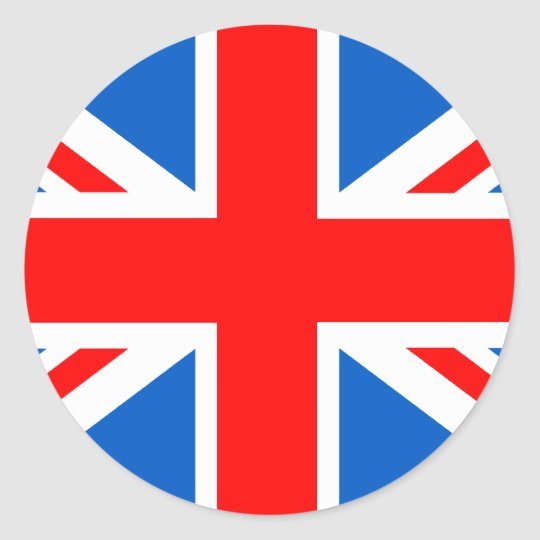 United Kingdom Flag T-shirts and Gifts Classic Round Sticker