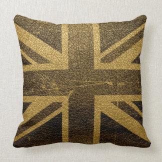 United Kingdom Flag Vintage #2 Throw Pillow